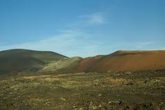 Berg av brand, Montanas del Fuego, Timanfaya.i Royaltyfri Fotografi