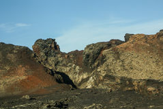 Berg av brand, Montanas del Fuego, Timanfaya.i Royaltyfri Foto