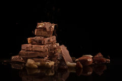 Berg av choklad Royaltyfri Fotografi