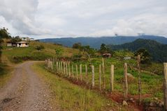 Berg av Costa Rica royaltyfri bild