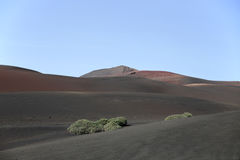 Berg av den brandTimanfaya nationalparken Lanzarote Royaltyfria Bilder