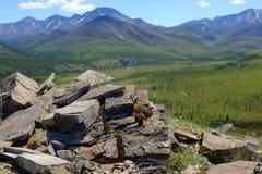 Berg av den Ivvavik nationalparken Royaltyfri Fotografi
