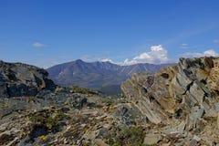 Berg av den Ivvavik nationalparken Royaltyfri Foto