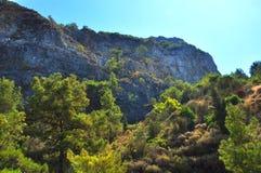 Berg av den Samos ön Arkivbild