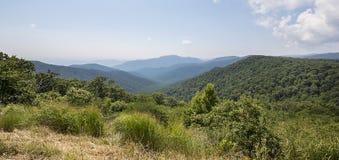 Berg av den Shenandoah nationalparken Arkivbild