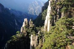 Berg av Huanshan China Royaltyfri Foto