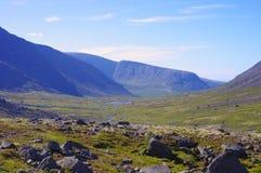 Berg av Kola Peninsula, Hibiny Arkivbilder