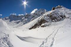 Berg av Krasnaya Polyana, Sochi, Ryssland arkivbilder