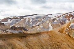 Berg av Landmannalaugaren royaltyfri fotografi