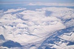 Berg av is och insnöade Alaska Royaltyfria Foton