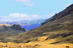 Berg av Peru Royaltyfri Foto