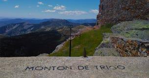 Berg av vetehögen royaltyfri fotografi