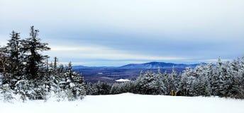 Berg beskådar i vinter fotografering för bildbyråer
