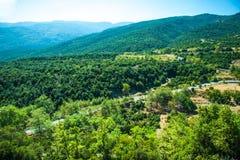 Berg beskådar - nationalparken Olympus arkivbilder