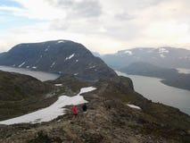 Berg Besseggen Norge royaltyfria bilder