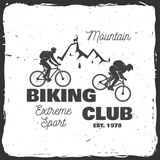 Berg biking club Vector illustratie stock illustratie