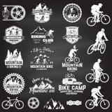 Berg biking inzameling Vector illustratie stock illustratie
