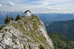 Berg-BrÃ-¼ nnstein in den bayerischen Alpen Lizenzfreie Stockfotos