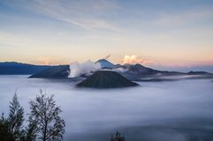 Berg Bromo, Indonesien lizenzfreie stockfotos