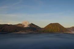 Berg Bromo und Berg Batok Lizenzfreies Stockbild