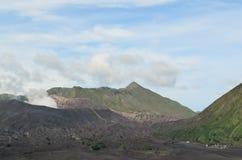 Berg Bromo und Berg Batok Stockbilder