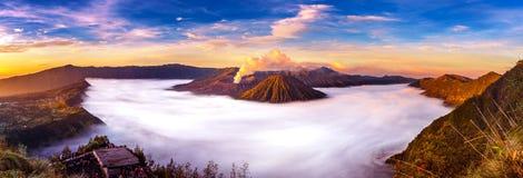Berg Bromo-Vulkan Gunung Bromo Stockfotos