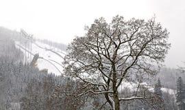 Berg Certak i Harrachov för republiktown för cesky tjeckisk krumlov medeltida gammal sikt Royaltyfria Foton