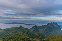 Berg Chiang Dao in Chiang Mai Stockfotos