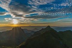 Berg Chiang Dao in Chiang Mai Stockfotografie