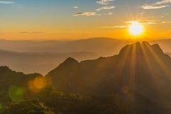 Berg Chiang Dao i Chiang Mai Royaltyfri Foto