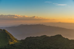 Berg Chiang Dao i Chiang Mai Arkivfoto
