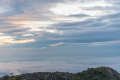 Berg Chiang Dao i Chiang Mai Royaltyfria Bilder