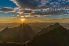 Berg Chiang Dao i Chiang Mai Fotografering för Bildbyråer