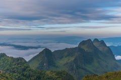 Berg Chiang Dao i Chiang Mai Arkivbild