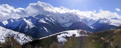 Berg China Bai-Mang stockbilder