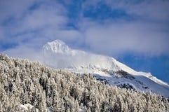 Berg Cuneaz (das Aostatal) Testa Grigia im Winter Lizenzfreies Stockfoto