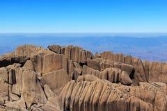 Berg de piek van Agulhas Negras (zwarte naalden), park Itatiaia, Br Stock Afbeelding