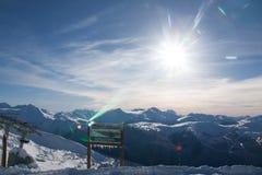 Berg in de winter Stock Foto