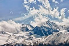 Berg in de Wolken Stock Fotografie
