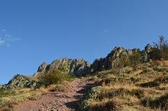 Berg Demerji in de Krim in de zomer royalty-vrije stock foto's