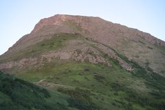 Berg der flachen Spitze Lizenzfreie Stockfotos