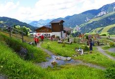 Berg der Richtungen im Alpen-Berg Lizenzfreies Stockbild