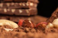 Berg der Schokolade Stockbilder