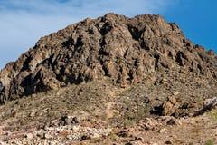 Berg in der Wüste, USA Stockbilder