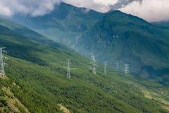 Berg in der Wolke in Tibet Lizenzfreie Stockfotos