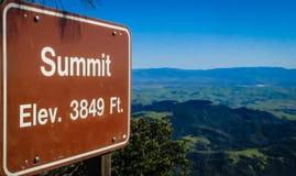 Berg Diablo Summit Lizenzfreie Stockfotografie