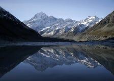 Berg die in meer wordt weerspiegeld Royalty-vrije Stock Afbeeldingen