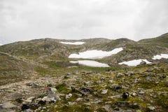 Berg die in Noorwegen wandelen Royalty-vrije Stock Fotografie