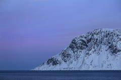 Berg die van het Overzees, Skagsanden-Strand toenemen royalty-vrije stock foto