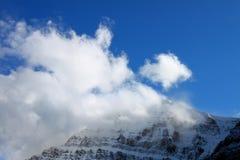 Berg Edith Cavell Jasper National Park stockbild